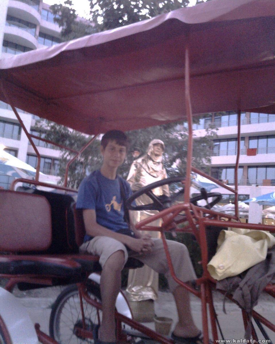 На рикша...