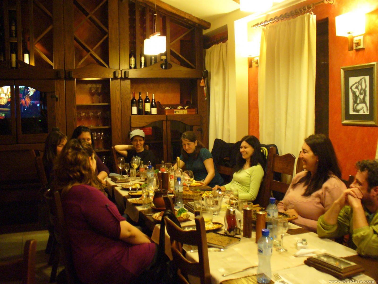 """на вечеря в механа """"Арбат"""",  Арбанаси"""