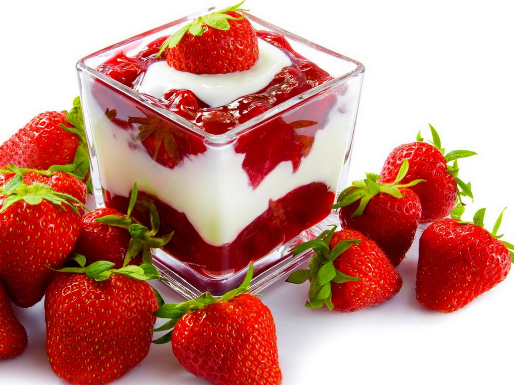 Strawberries dessert