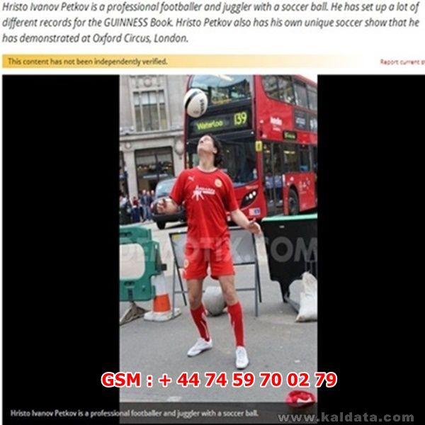0204.Footballman Hristo Petkov's Show At Oxford Circus   London