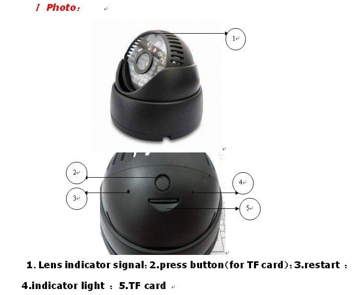 Куполна камера с MicroSD карта