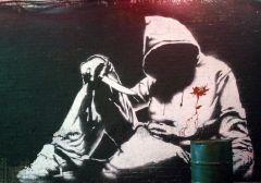 A Banksy film still Cans Graffiti Art Festival
