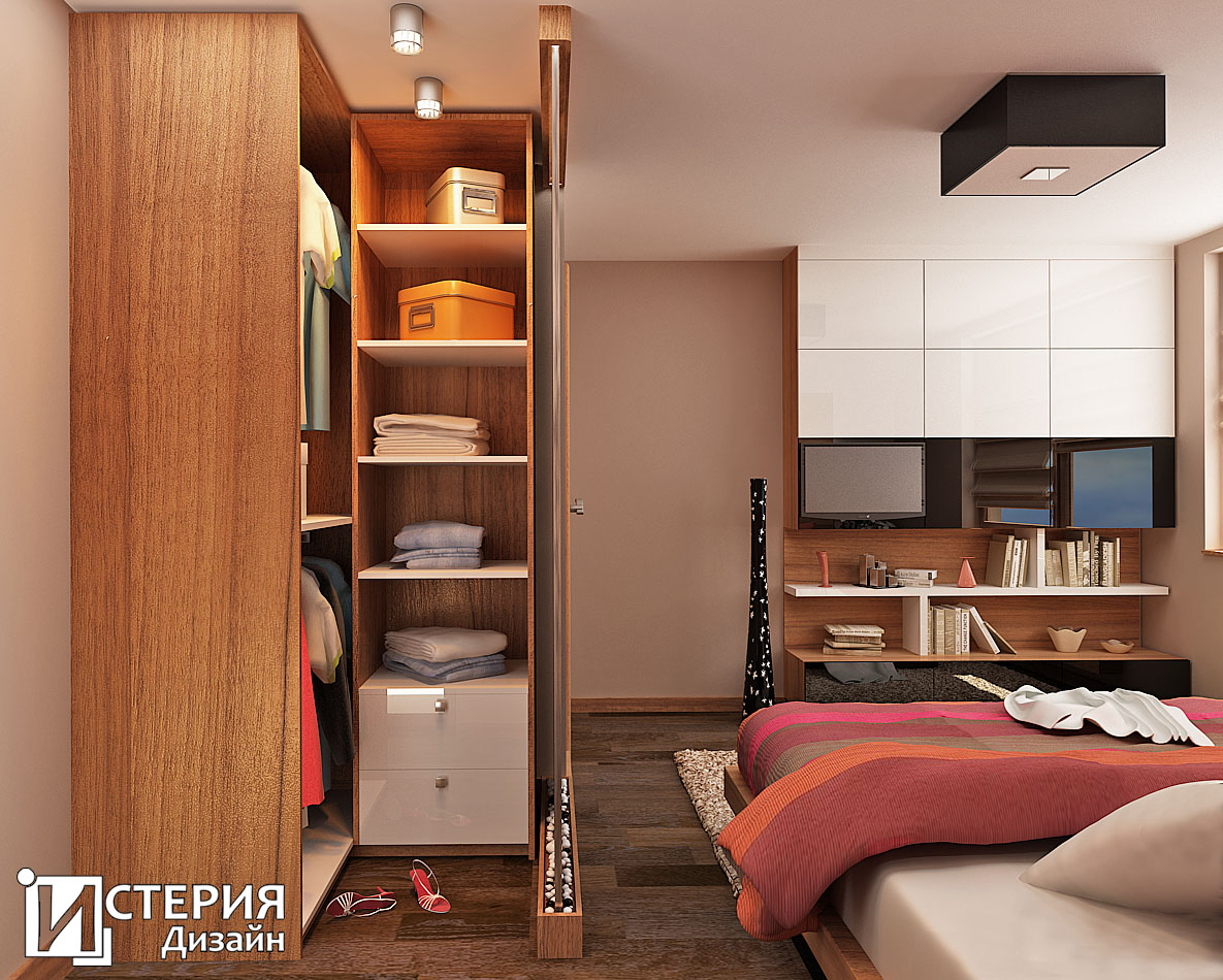"Истерия Дизайн – интериорен дизайн / проект ""Виера"" – Спалня"