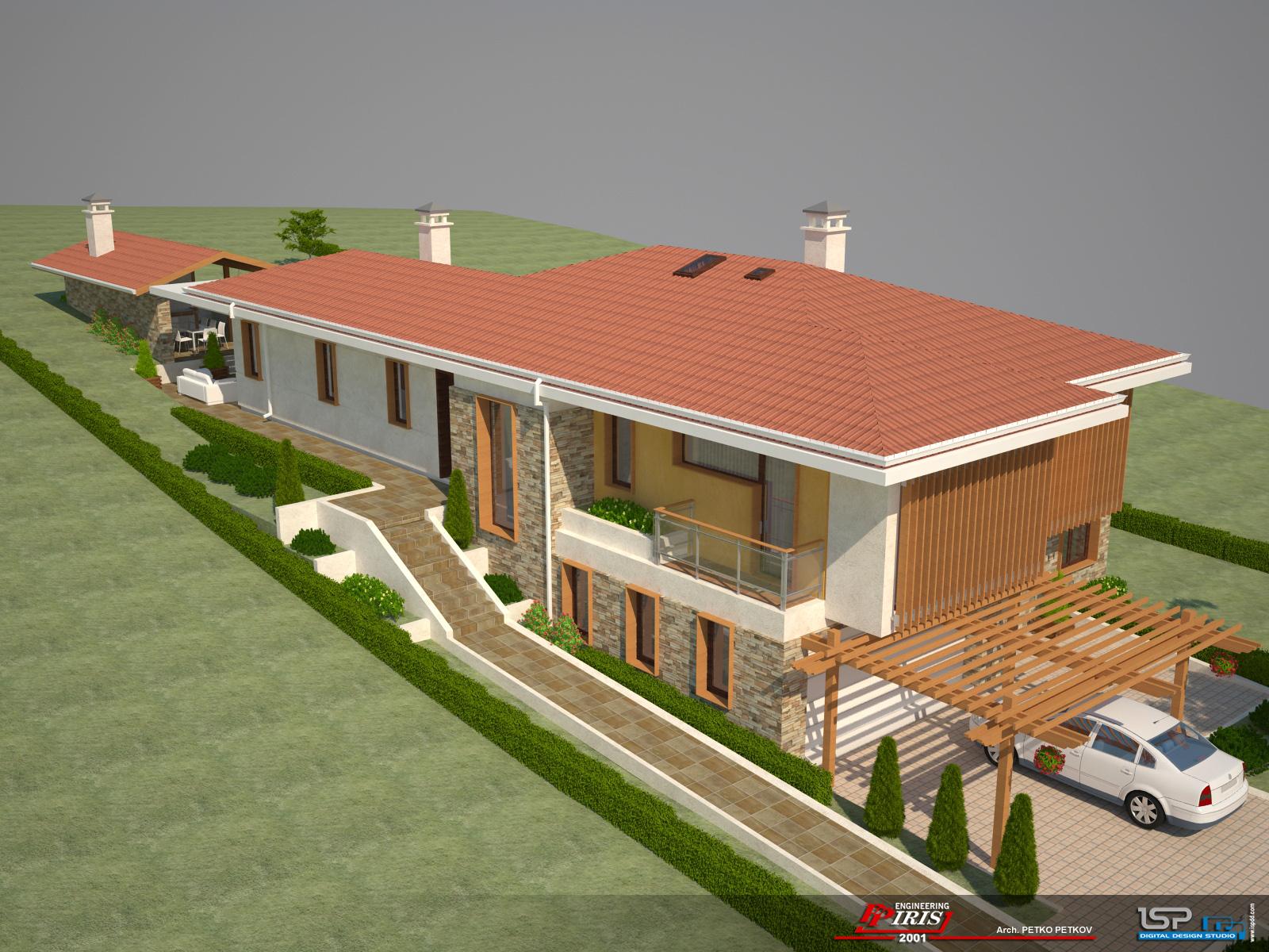 Проект на еднофамилна къща в с. Дивотино