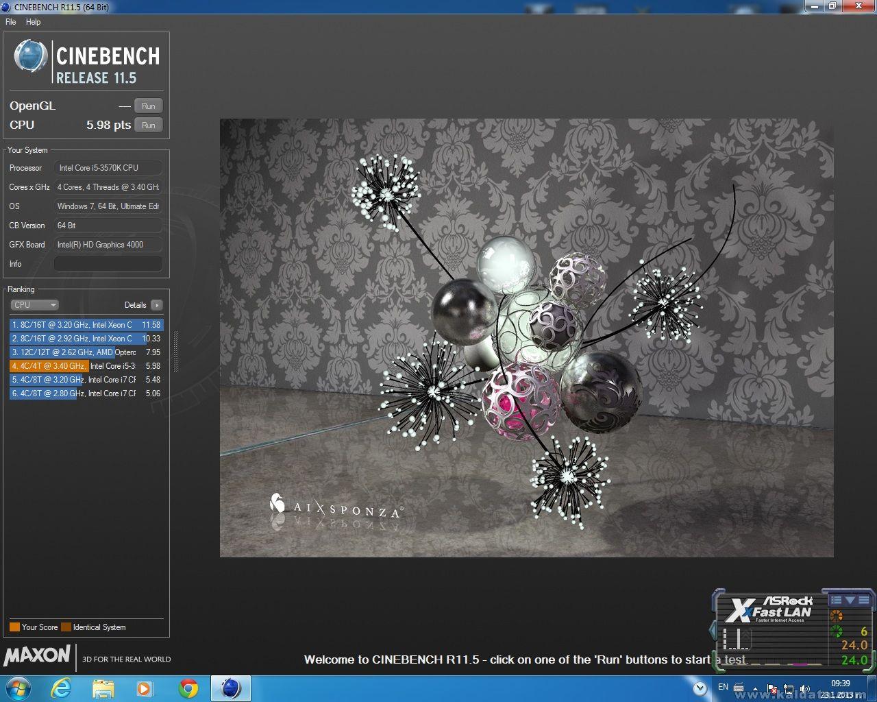 Cinebench CPU  (3570K)
