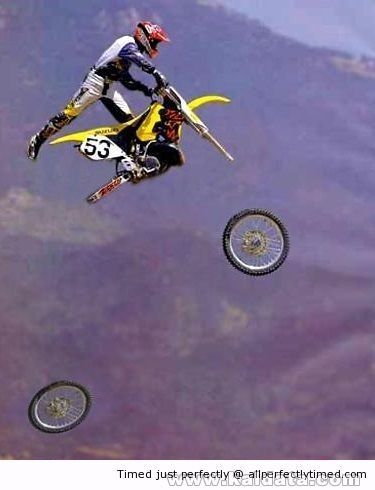Just As both wheels fall Of The bike resizecrop