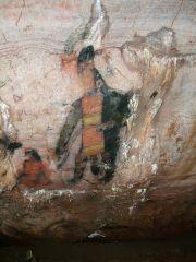 Олмекска скална рисунка   Великанът