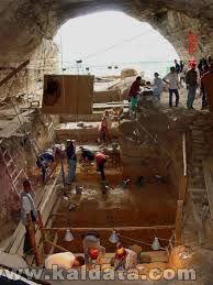 Пещера Козарника, древни стълби