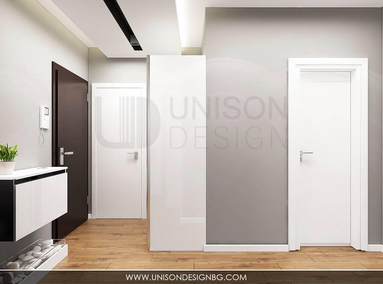 Визуализация-коридор-антре-интериорен-дизайн-черно-и-бяло-обзавеждане-дизайнер-Ралица-Запрянова-Unison-Design-5.jpg