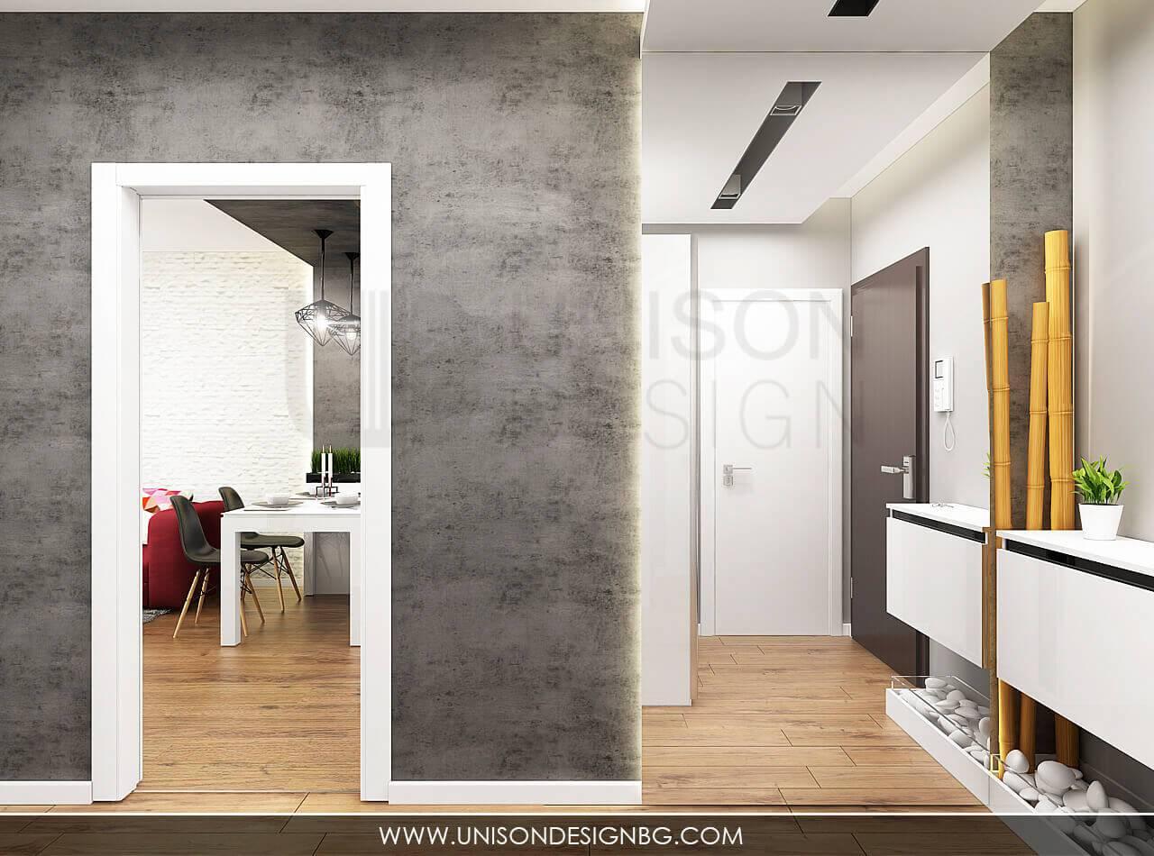 Интериорен-дизайн-черно-бяло-коридор-визуализация-интериорен-проект-декоративна-мазилка-дизайнер-Ралица-Запрянова-Unison-Design.jpg