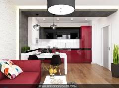Дневна-интериорен-дизайн-черно-бяло-червено-хол-кухня-модерен-интериор-интериорен-дизайнер-Ралица-Запрянова-Unison-Design-1.jpg