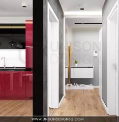 Интериорен-дизайн-черно-бяло-визуализация-на-коридор-окачен-таван-декоративна-мазилка-дизайнер-Ралица-Запрянова-Unison-Design.jpg