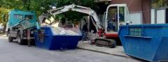 Товарене и извозване на строителни отпадъци с контейнери