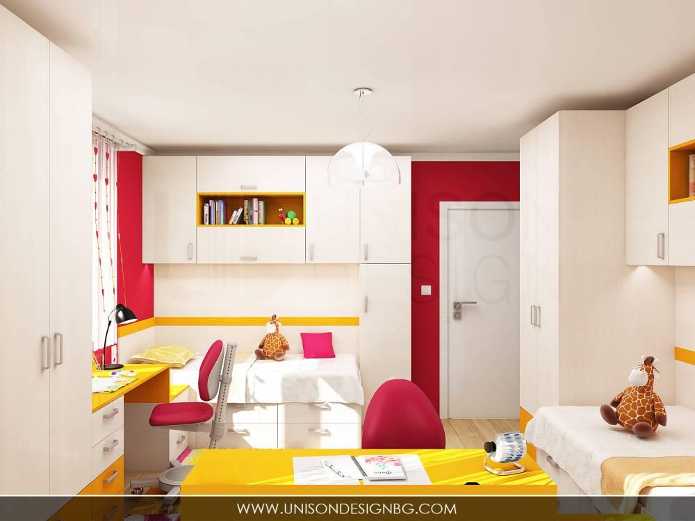 Детска-стая-момичета-жълто-малиново-мебели-детско-obzavejdane-интериорен-дизайн-визуализация-detskko-obzavejdane-mebeli-porachka-unison-design.jpg