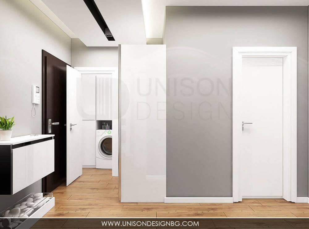 Интериорен-дизайн-на-апартамент-визуализация-коридор-антре-интериорен-дизайн-черно-и-бяло-дизайнер-Ралица-Запрянова-Unison-Design.jpg
