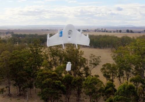 Google тества доставката на стоки с помощта на дрони