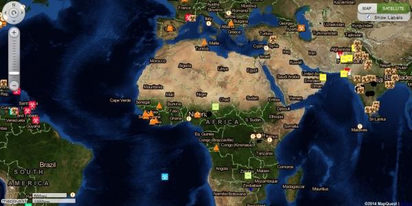 В уеб-пространството се появи медицинска карта за разпространение на епидемиите с информация в реално време