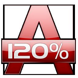 Alcohol 120% е CD/DVD софтуер за емулация и запис позволяващ