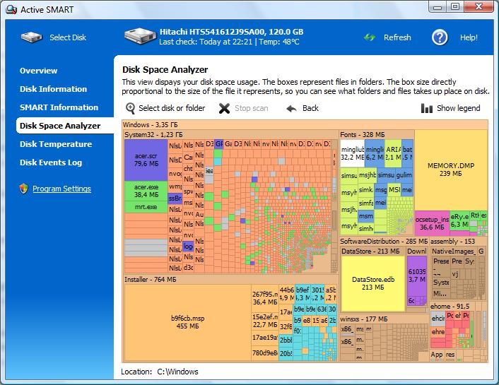 ActiveSMART позволява да следите S.M.A.R.T. параметрите на хард диска за
