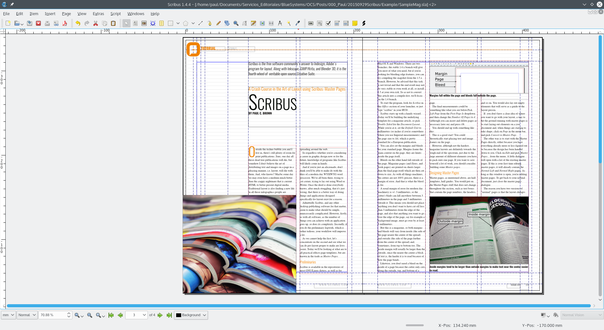Scribus 1 5 3 final for Scribus newspaper template