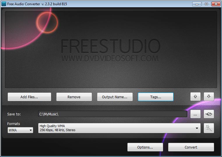 Free Audio Converter конвертира аудиофайлове от един формат в друг.