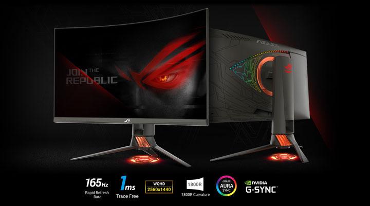 Тайванската компания ASUSTeK Computer предлага нови модели геймърски монитори от
