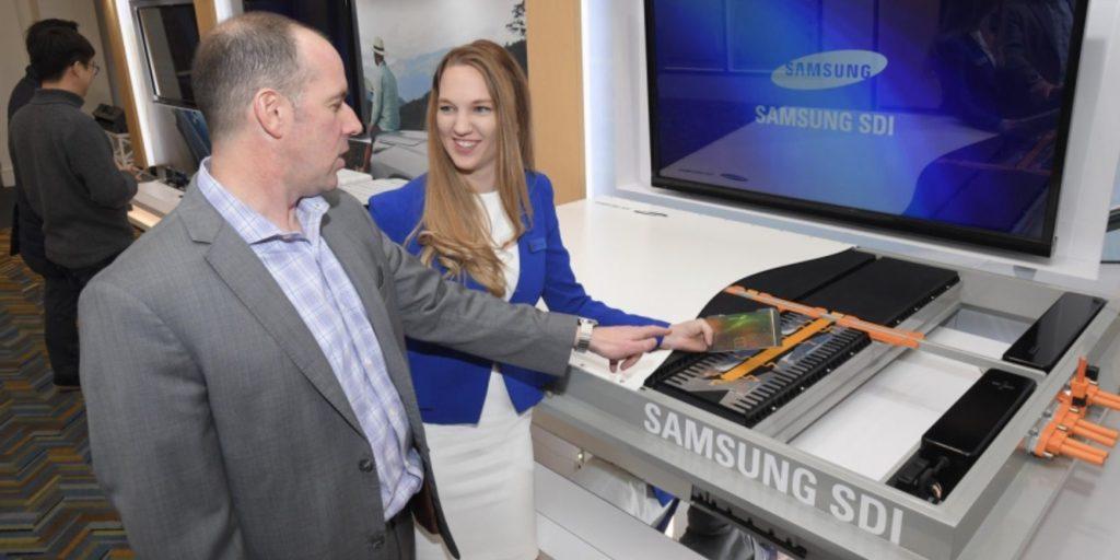 На изложението 2018 Detroit Motor Show, отделът Samsung SDI демонстрира