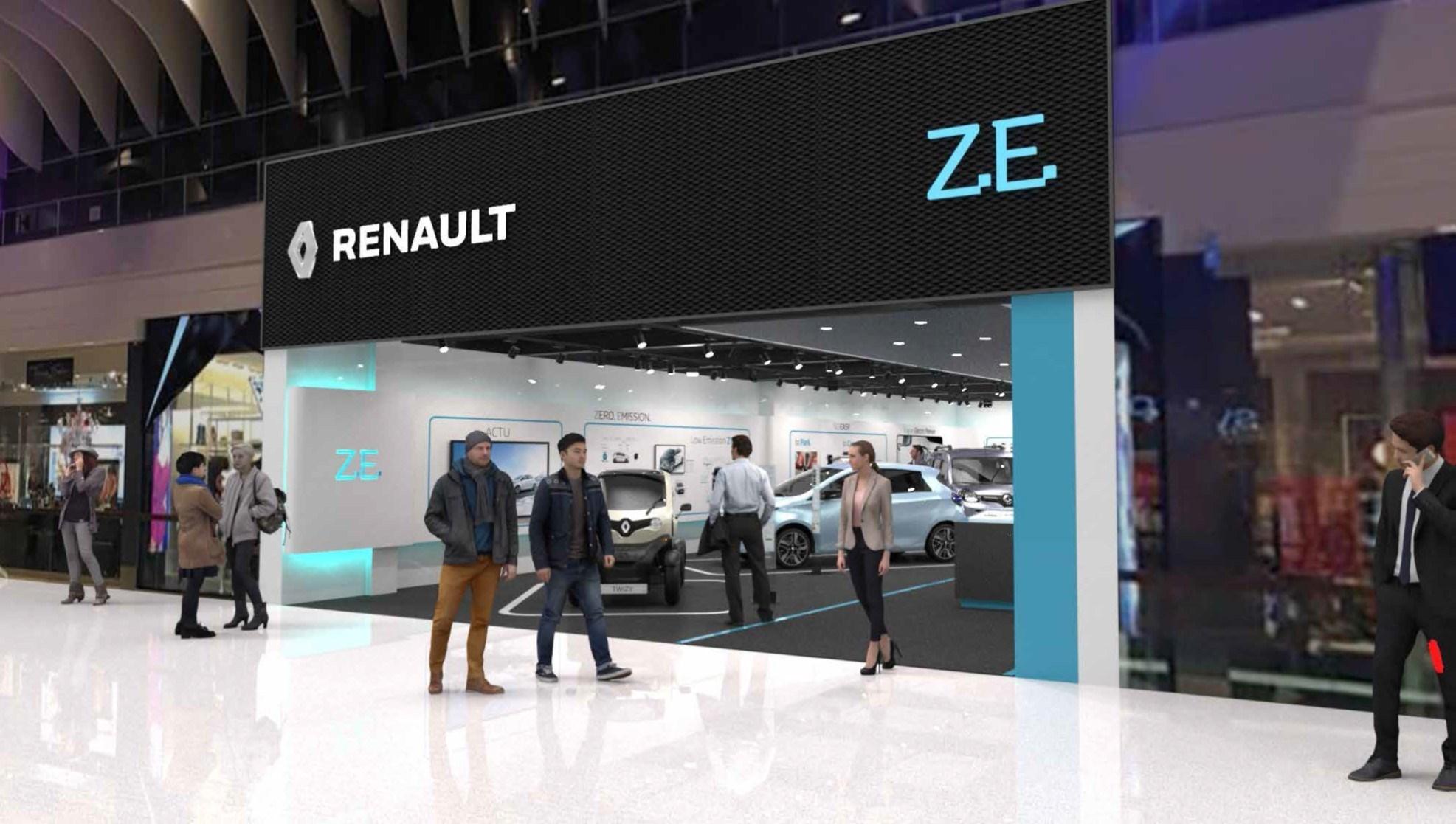 Френският автопроизводител Renault отвори първия автосалон, в който ще се