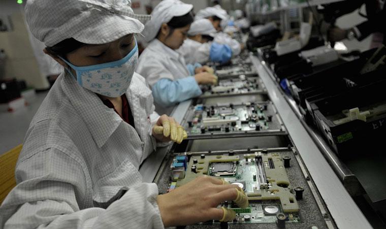 Един от най-големите китайски заводи за сглобяване на електронни устройства