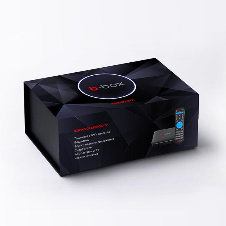 b-box е устройство за достъп върху безжичен интернет до IPTV